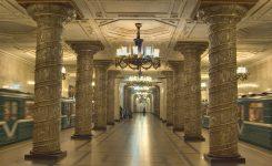 ペテルブルクの地下鉄駅